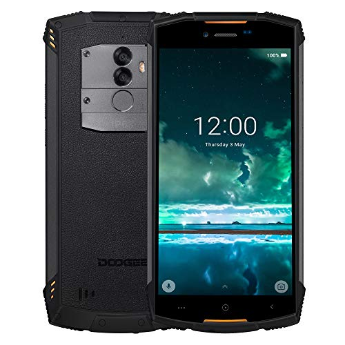 Günstige Robustes Handy 4G, DOOGEE S55 Lite Outdoor Smartphone ohne Vertrag, Rugged Telephone Portable stoßfest staubdicht IP68 wasserdicht, 5.5 Zoll, 2+16GB, Android 8,0 Dual SIM Mobile außen, orange