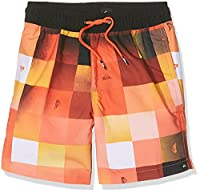 Quiksilver Boys' Checkmarkvly15 Boardshort, Nasturticm, X-Small/Size 8