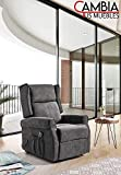CHANCE FURNITURE Cambia Tus Muebles - Butaca MILÁN, sillón Relax reclinable, Motor eléctrico, Sistema Levanta Personas (Gris)