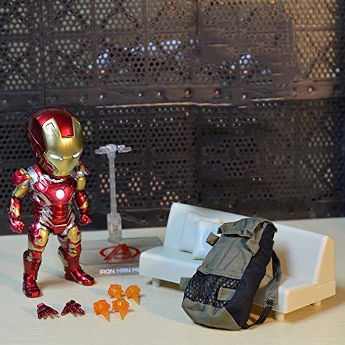 Decddae Marvel Avengers Iron Man Beleuchtet Modell Hand Spielzeug Puppe Gemeinsame Bewegliche Kinder Geschenk Standard Version