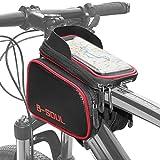 Cofit 3 in 1 Borsa per Manubrio Bici di Grande capacità Rossa, Custodia per Bicicletta Porta Cellulare per Bicicletta con Touch Screen Sensibile all'Acqua Adatta per Cellulari Smart sotto 7.1 inch