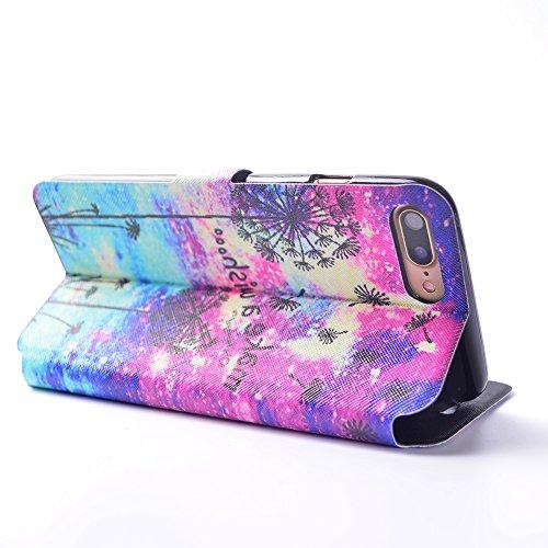 Cover iPhone 7 Plus, CaseLover iPhone 7 Plus 5.5 Custodia Pelle 3D Magnetico Protettiva Stampata Portafoglio con Sottile Silicone Morbido Case Cinturino Card Slot Antigraffio Flip PU Supporto Funzion Esprimi un desiderio