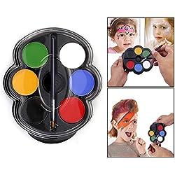 Itian Paleta de pintura facial - Pintura Facial 6 Colores, Profesional Cuerpo de la cara Pintura parte Juego, no tóxico seguro