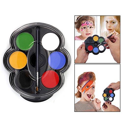 Itian Kinderschminke Set,Profi Palette,Professionelle Schminksets Ideal für Kinder,Parties,Bodypainting(6 Farben)