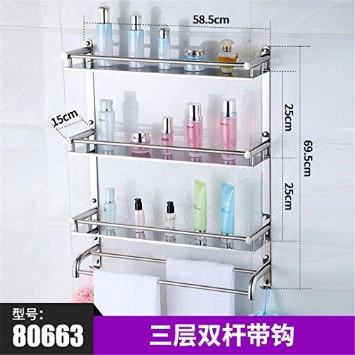 Duscheen 304 Edelstahl Ecke Korb Badezimmer Produkte Luxus Kosmetische Lagerung Bad Regal Halter Badezimmer Zubehör Ks10 3 tier1 (Filter-korb Halter)