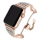 TRUMiRR pour Apple Watch Band 42mm Femmes Dames, Cristal Bracelet en Acier Inoxydable...