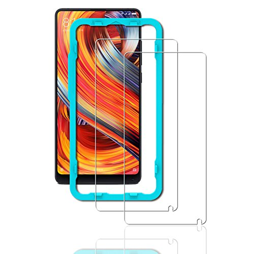 Protector Pantalla Xiaomi Mi Mix 2 [2 Pieces] [Easy to install] [Lifetime warranty], Flos Cristal Templado 9H Dureza [3D Touch Compatible], Anti-Huella para Xiaomi Mi Mix 2
