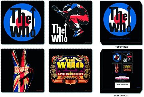 The Who Coasters: 4 Piece Coaster Set in Presentat