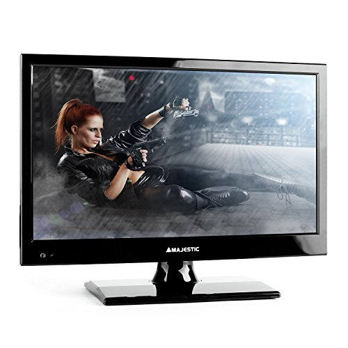 "New Majestic TVD-215 LED MP01 -  Televisore  HD Ready 15,6"" Formato 16:9, Nero DVB T/2"