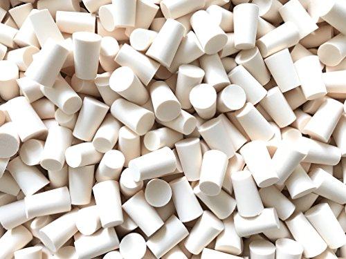 15, 25, 50 oder 75St. Spitzkorken 15mm (⌀ = 13.5-17mm / Länge = 27mm) aus PE Korken Stopfen für Flaschen (50 Stück) (Reagenzgläser Mit Drehverschlüsse)