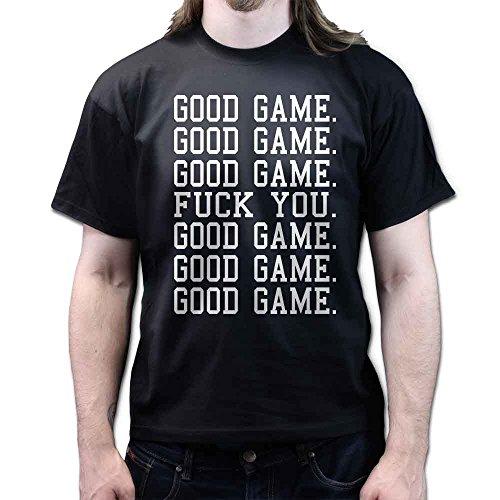 Good Game F**K YOU Good Game Football Basketball Hockey Funny T-shirt Schwarz