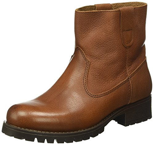PIECES Psvaha Leather New Boot Cognac, Scarpe da Barca Donna Marrone (Cognac)
