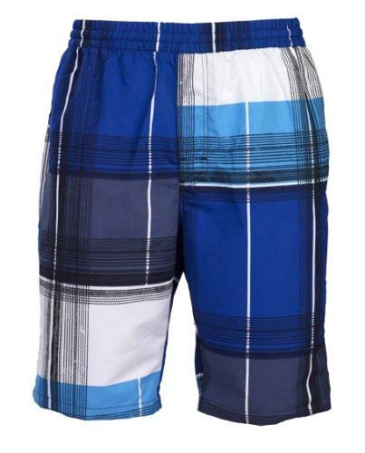 mareno® - Herren Badeshort kariert in blau, in Größe XL (Marine-blau-karierte)