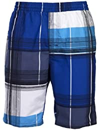 Olibia Mar: moderne Jungen Badeshort - attraktiv gemustert in blau, grün oder rot