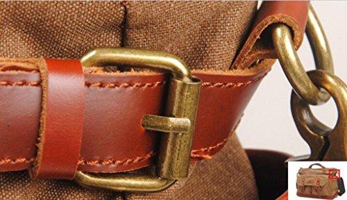 Lixmee-Borsa a tracolla in tela da donna, alla moda Marrone (marrone)