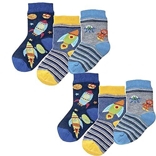 Baby Socken,6Pack,74/86,Motiv Ufo