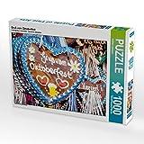 Gruß vom Oktoberfest 1000 Teile Puzzle quer: Geschmackvolle Lebkuchenherzen (CALVENDO Spass)