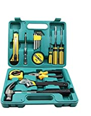 GNEY Tool Kit 16 Pieces Durable Household Small Hand Tool Kit with Plastic Tool Box Storage Case for DIY, Interior Decorating, Household Chores, Car Repair