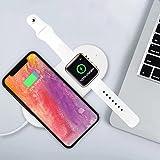 2 in 1 Qi Wireless Charger Pad Ultradünne Ladestation für Apple Watch iPhone X 8/8 Plus