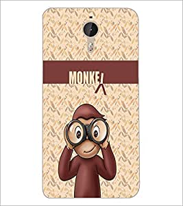 PrintDhaba Funny Monkey D-3501 Back Case Cover for LETV (LE ECO) LE 1 PRO (Multi-Coloured)