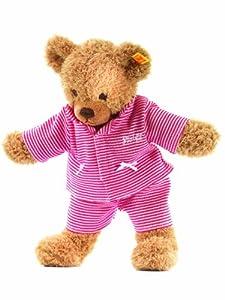 Steiff 237089 - Oso de peluche con pijama, 28 cm, color rojo importado de Alemania