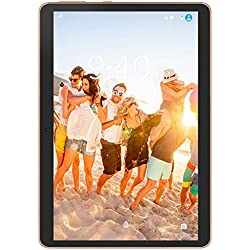 4G LTE Tablette Tactile 10 Pouces Android 9.0 Pie YOTOPT, 64Go, 4Go de RAM Tablette Dual SIM GPS, WiFi, Bluetooth, Type-c (Noir)
