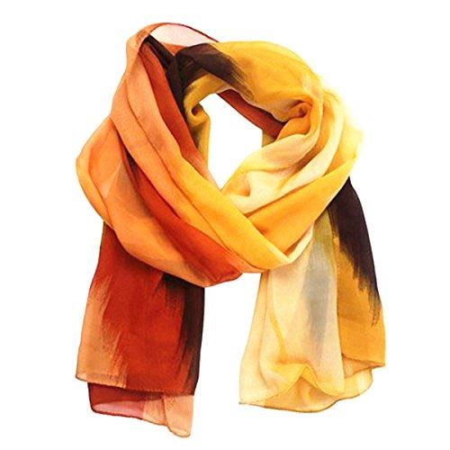 venmo-mujeres-tinta-pintura-gasa-bufanda-naranja