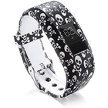 LANSKIRT_Correas de Reloj de Silicona Reemplazo repuestos de Relojes Recambio Brazalete Extensibles Pulsera para Garmin VivoFit
