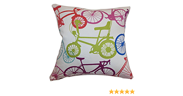 The Pillow Collection Echuca Bicycles Cushion Cover Confetti Cotton Yellow 2505 X 2505 X 873 Cm Amazon Co Uk Kitchen Home
