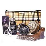 Bartpflege Geschenk-Set Männer komplett von Bartstoppel© mit Bartöl Vanille und Bartwachs Bartwichse mit Arganöl Made in Germany Tierversuchsfrei