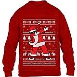 Kids Weihnachten Geschenk Dab vom Weihnachtsmann Kinder Pullover Sweatshirt XL 152/164 Rot