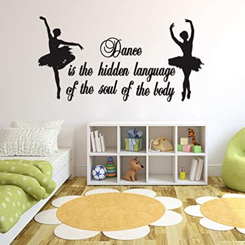 Wandaufkleber Schlafzimmer Dancing Girls Plus Text Dress Up For Kids Room Girls Home Decor Murals Dance Room for Gareth Bale (Spaß Dress Up Ideen)