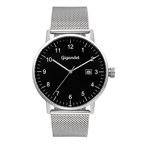 Gigandet Minimalism Men's Analogue Wrist Watch Quartz Silver Black G26-006