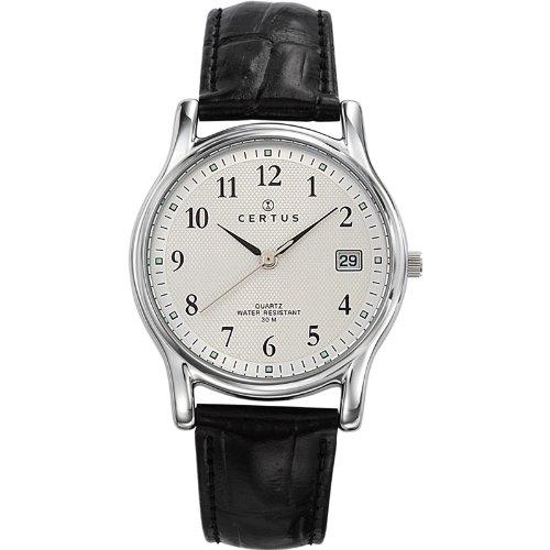 Certus Cer-610590 - Reloj para caballero de cuero plateado