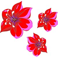 LightningSigns Red and Pink flower stickers, car, wall art, laptop