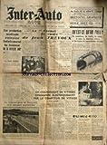 INTER AUTO [No 192] du 22/02/1951 - rallye de monte-carlo - le carnet de route de jean trevoux - qu'est-ce qu'un pneu - une production insuffisante entraine fatalement la hausse ou le marche noir par dorsel - un changement de vitesses commande electriquement par le compteur de vitesse par latour - le nouveau pont de suresnes -