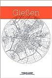 Poster 61 x 91 cm: Gießen Karte Kreis von Campus Graphics