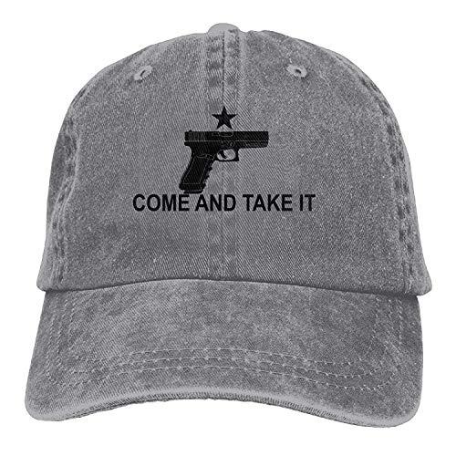 Preisvergleich Produktbild SDFGSE Glock 17 Come and Take It Unisex Sport Adjustable Structured Baseball Cowboy Hat