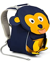Affenzahn Kinderrucksack mit Brustgurt für 1-3 jährige Jungen und Mädchen im Kindergarten oder Kita der kleine Freund Albert Affe - dunkelblau, gelb,schwarz