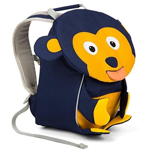 Affenzahn Kinder-Rucksack mit Brustgurt für 1-3 jährige Jungen und Mädchen im Kindergarten oder Kita der kleine Freund Albert Affe - Dunkelblau