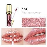 Allbesta Metallic Farben Pearly-lustre Lippenstift Flüssigkeit Langlebig Wasserfest Matte Lipgloss
