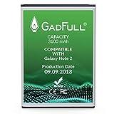 GadFull Akku kompatible mit Samsung Galaxy Note 2 | 2018 Baujahr | Entspricht dem Original EB595675LU | Lithium-Ionen-Akku Kompatible mit GT-N7100 | GT-N7105| Ersatz Handy-Akku für Ihr Smartphone