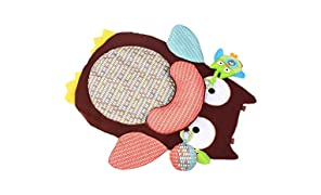 TheTickleToe Baby Tummy Time Play Mat with 2 Toys 1 Pillow Owl Shape Rattle
