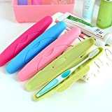 #6: Inovera (Label) Travel Toothbrush Holder Cover Case - Set Of 4 (Assorted Colour)