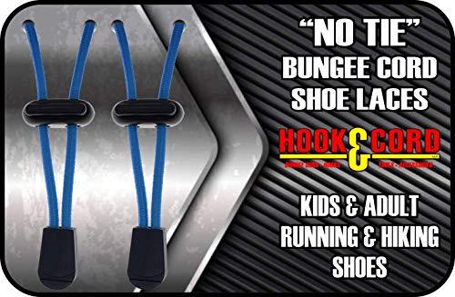 SECURE IT QUICK - Schnürsenkel für Kinder und Erwachsene - Tieless verstellbare Elastik/Bungee-Schnürsenkel Ideal für Sneaker und Stiefel, Pacific Blue