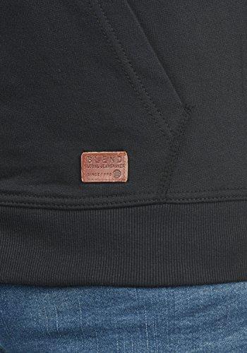 BLEND Speedy Herren Sweatjacke Zip-Hoodie mit Kapuze und optionalem Teddy-Futter aus einer hochwertigen Baumwollmischung Meliert Black (70155)