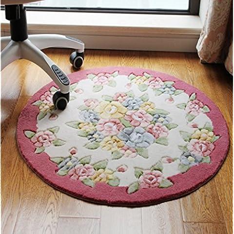 Rosa più spessa circolare sgabello trucco camera da letto tappeto tappeto tappetino computer sedia cuscino cestino coperta tappeto da salotto ( colore : 2# )