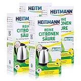 Heitmann Reine Citronen Säure 375g - Universell anwendbar gegen Kalk (4er Pack)