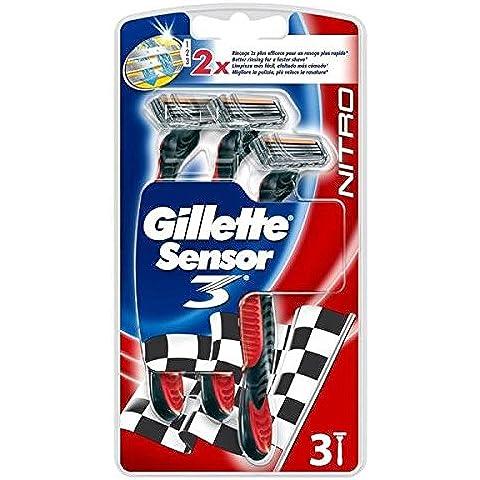 Gillette–Afeitadora corporal desechables Sensor 3rojo