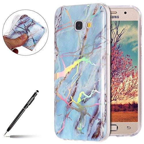 Handyhülle Marmor Samsung Galaxy A3 2017, Schutzhülle für Samsung Galaxy A3 2017, Uposao Weich...